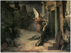 The plague in Rome. Painting by Jules Elie Delaunay