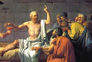 Greek philosophers enjoying a good metaphysical throwdown